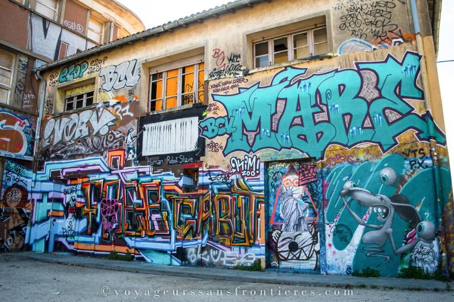Street art dans le quartier du Gabut - La Rochelle, France