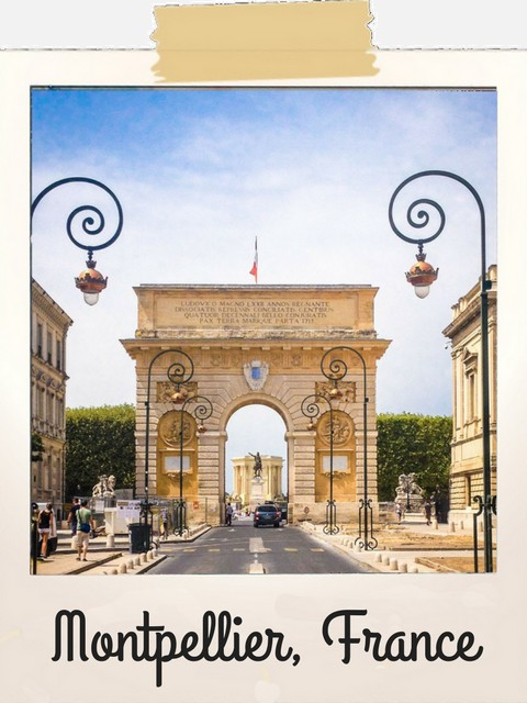Polaroid Montpellier, France - Voyageurs Sans Frontières