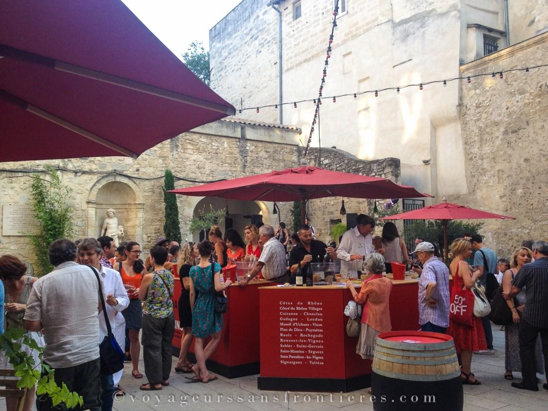 La Maison des Vins during the Avignon Festival - Avignon, France