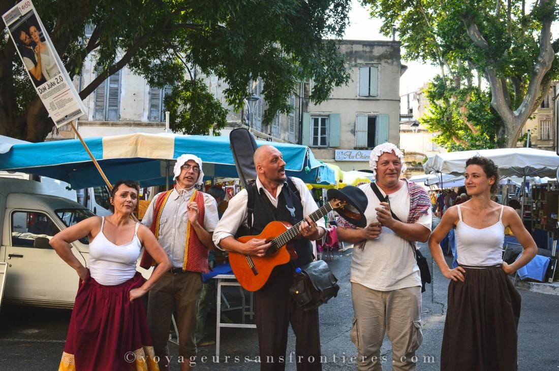 Street show during the Avignon Festival - Avignon, France