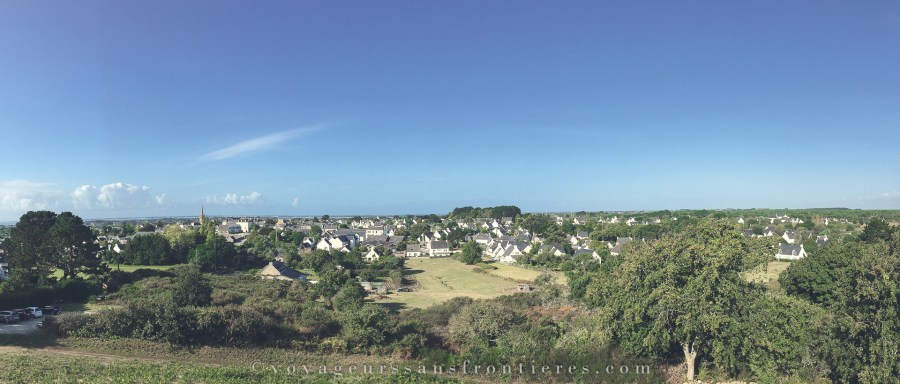 View over Carnac from the Tumulus Saint Michel - Brittany