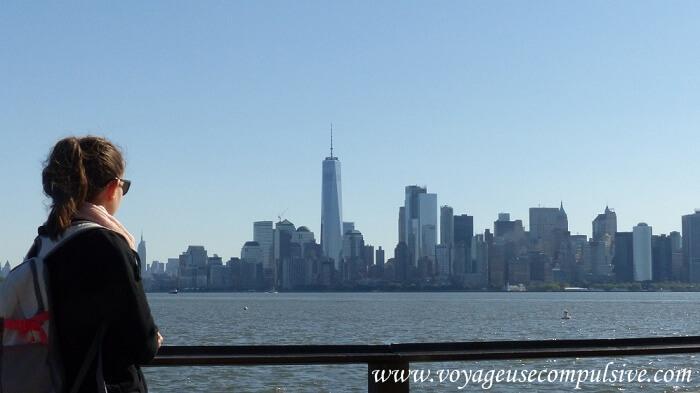 Vue sur les building de Manhattan depuis Liberty Island