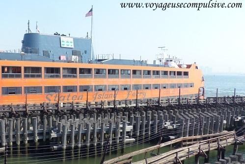 Ferry qui relie Manhattan et Staten Island