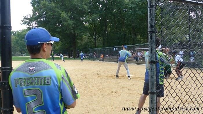 Zoom sur le maillot d'un joueur de Baseball à Central Park.