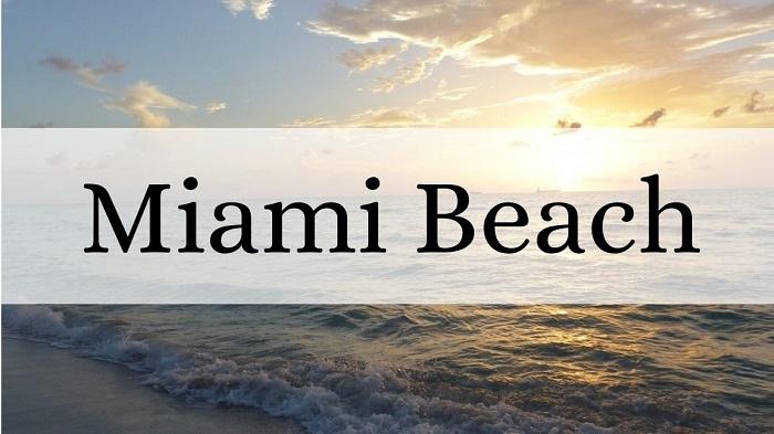 Voyager en Amérique : lever de soleil sur la plage pour présenter la catégorie d'articles sur Miami Beach