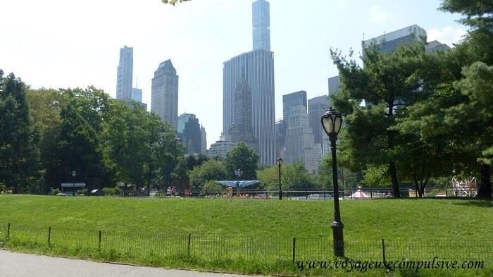 L'une des vues sur les Buildings de Manhattan qui entourent Central Park
