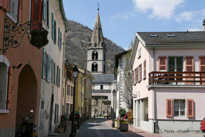 The Church Of Martigny View From The Street Switzerland