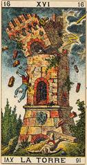 """Résultat de recherche d'images pour """"carte tarot 16"""""""