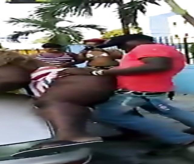 Black Bbw Screwed Doggystyle On A Public Street