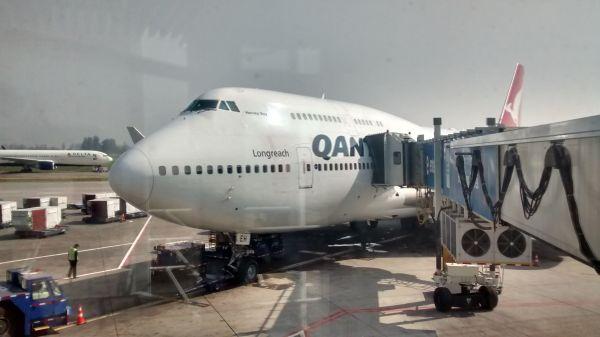 El avión que me trajo a Australia