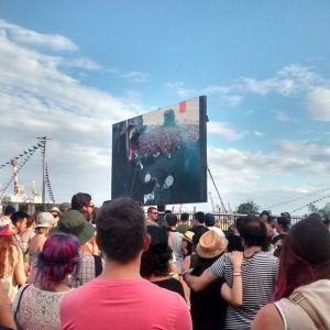 Me hice un tiempo para sacar la foto en el Laneway Festival en Melbourne, si pueden ir vayan!!!! Mucha gente.