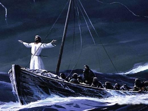 Jesus y la tormenta