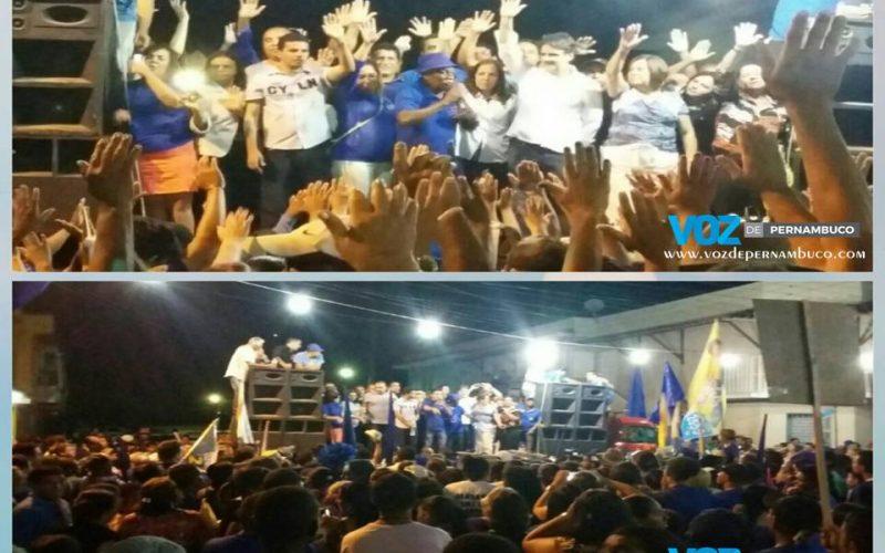 Com presença do vice-governador, Botafogo realizou comício no bairro São José em Carpina