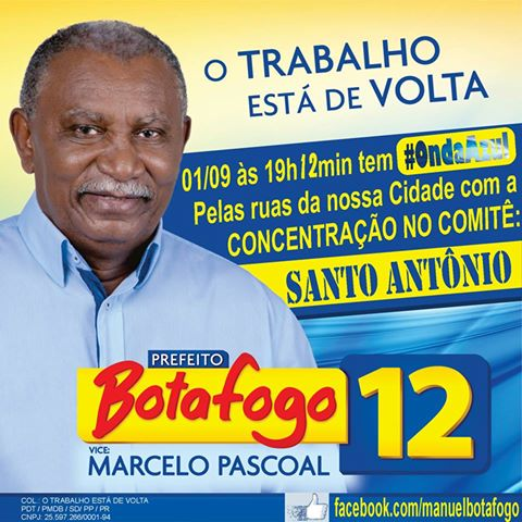 Botafogo realizará ultima caminhada na noite deste sábado (1)
