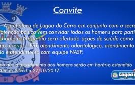 """Em Lagoa do Carro, Secretaria de saúde promoverá a """"Noite do homem"""""""