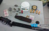 Polícia Civil apreende arma, drogas e munição em Lagoa de Itaenga