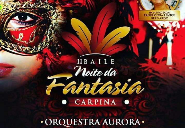"""""""Noite da Fantasia"""" fará abertura do Carnaval 2018 em Carpina"""