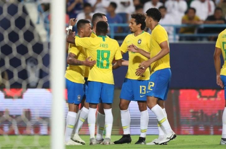 Com pouca intensidade, Brasil vence Arábia Saudita em amistoso