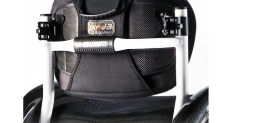 Jay3 karbon chrbtová opierka na invalidný vozík