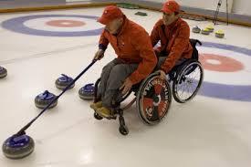 curling na invalidnom vozíku