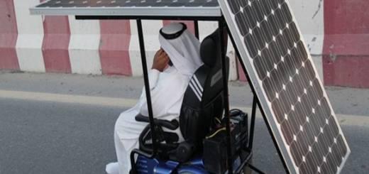 emiráty šejk na invalidnom vozíku