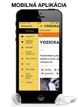 mobilna aplikacia Vozickar.info