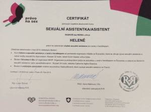 certifikát sexuálnej asistentky