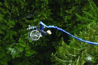 bungee jumping - vo vozíku