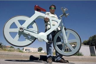vozík z papiera - bicykel