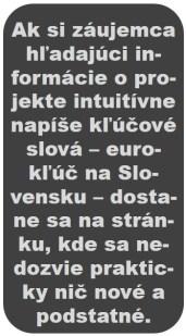 eurokľúč na Slovensku - upútavka