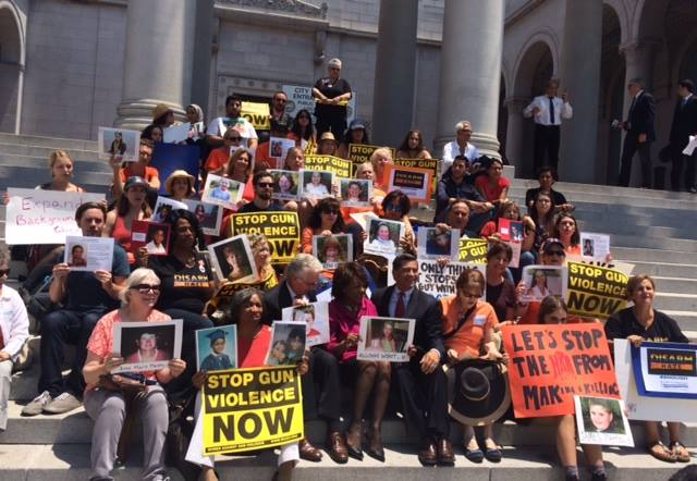 Gun violence sit in at LA City Hall