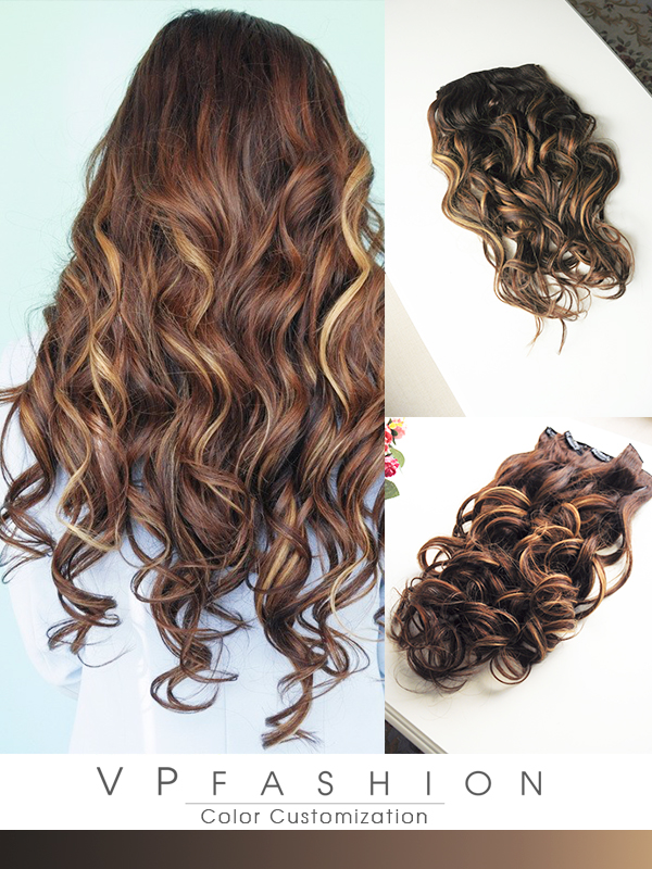 Balayage Hairstyles Use Indian Remy Clip In Hair