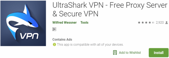 UltraShark VPN For Windows