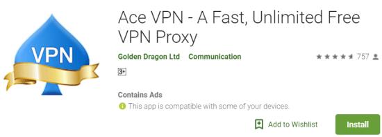Ace VPN For Windows