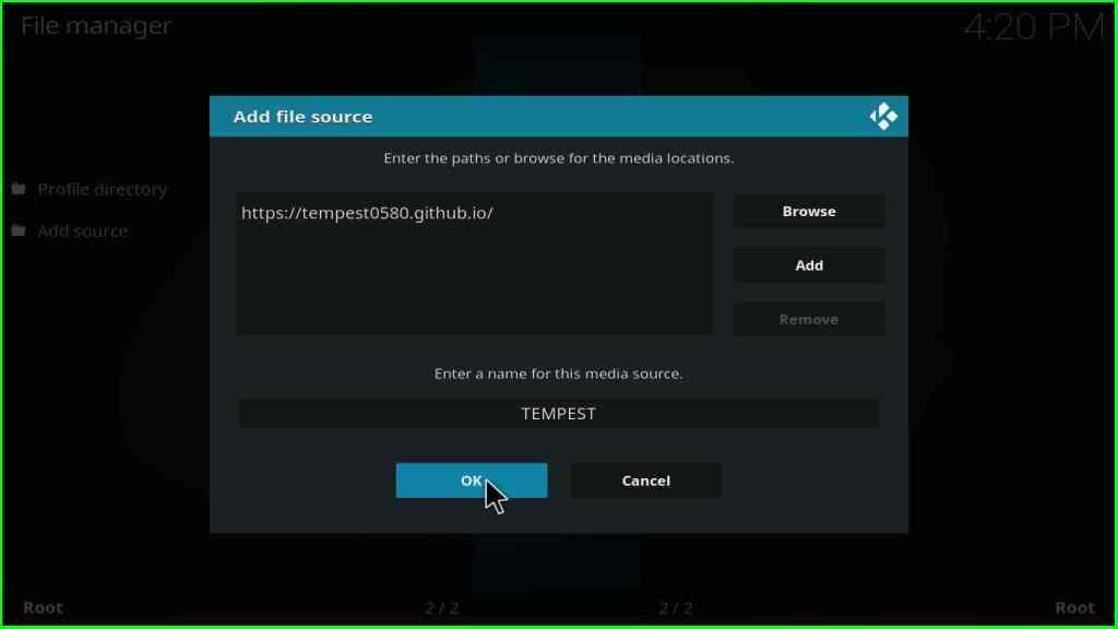 tempest addon kodi installation step 9