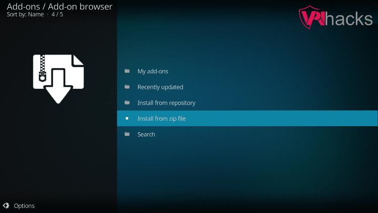 install from zip file venom