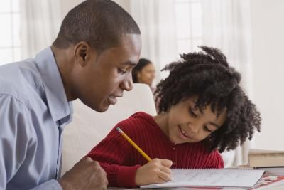 Parent Studying with Child