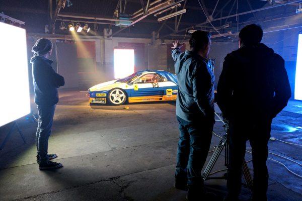 Ferrari 348 Challenge overnight shoot Automotive video production