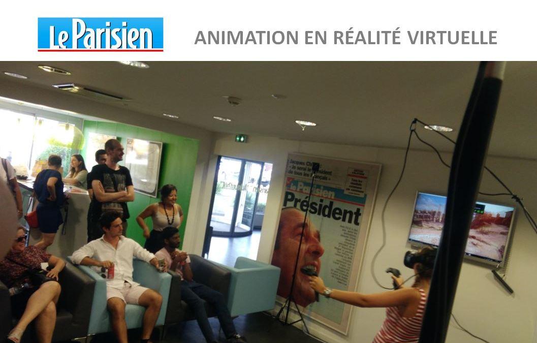 Animation réalité virtuelle au siège du Parisien