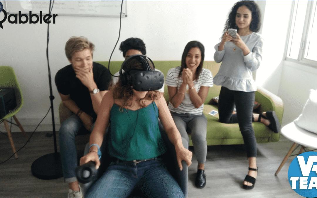 Teambuilding VR dans les locaux de la Start-Up Babbler
