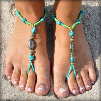 Coral Reef Barefoot Sandals from Little Lace Box