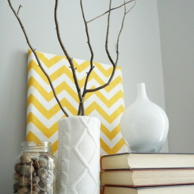 A vase full of branches is a subtle way to transition your home for Fall.