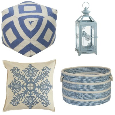 Pantone Color of the Year. Add a dash of Serenity to your home with these pale blue accessories.