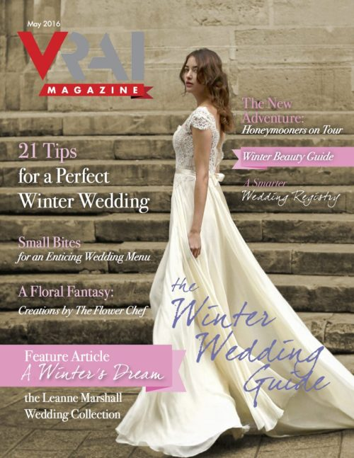 VRAI Magazine Winter Wedding Guide COVER