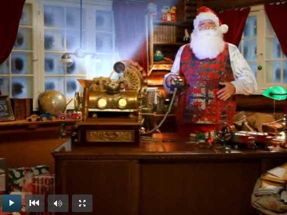 La video entièrement personnalisée du Père Noël pour votre enfant