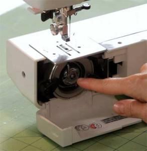 Machine a coudre bloque canette
