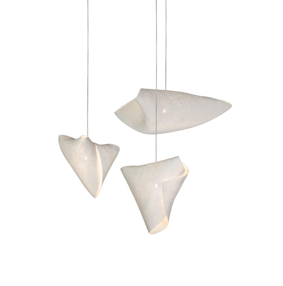 contemporary chandelier lampshade in fine painted steel frame