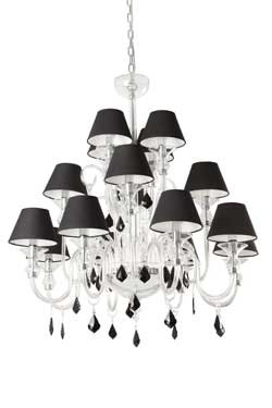 Chandeliers Whose Color Is Black And Metal Style Baroque By Faro Reference 11090213
