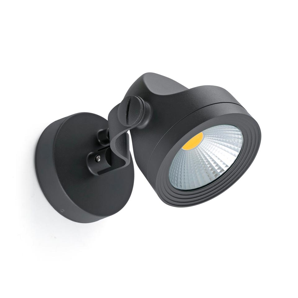 small black aluminum outdoor spot adjustable ip65 protection