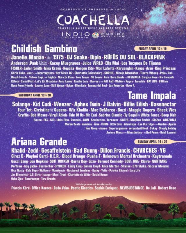 Coachella 2019 lineup poster